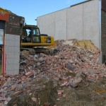 Timaru Business hub During Demolition
